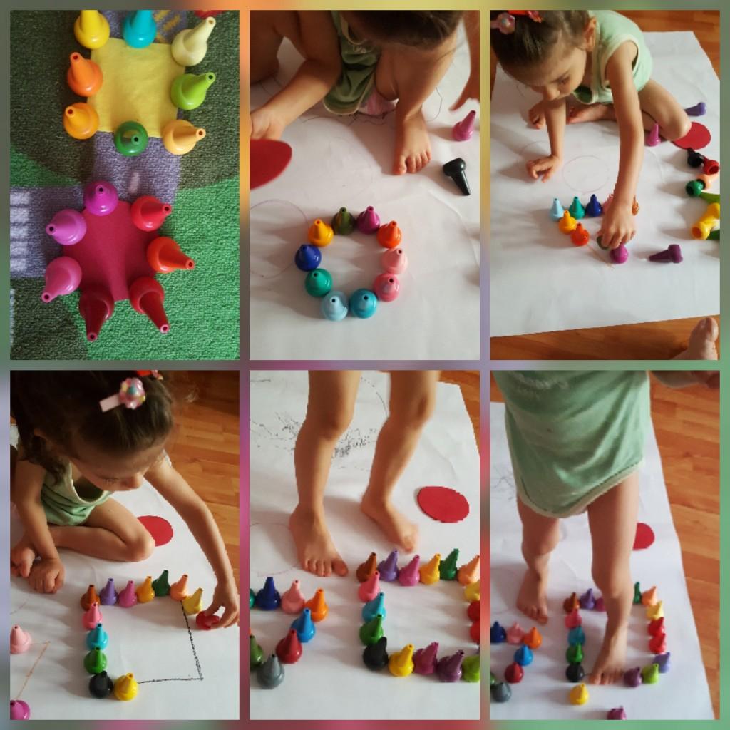 Ce poţi face cu un setde finger crayons