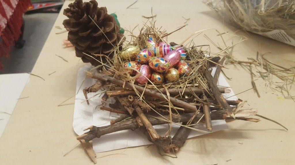 cuib cu ouă